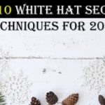 10 White Hat SEO Techniques for 2018