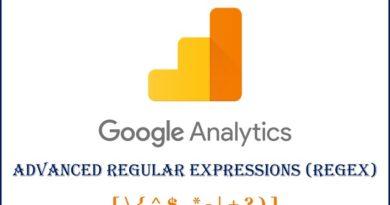 Google Analytics Advanced Regular Expressions RegEx