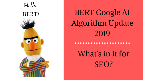 BERT Google AI Algorithm Update 2019