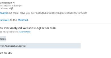 LinkedIn SEO Poll for Log File Analysis